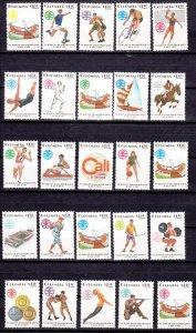 J26949 1971 colombia set mnh #c546-566 sports