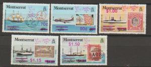 Montserrat SG 818 - 822 set of 5  MLH -  Transport aircra...