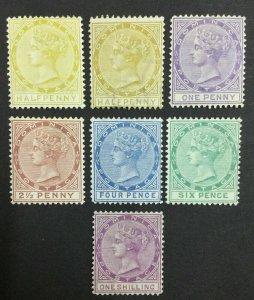 MOMEN: DOMINICA SG #4-9 1877-9 P14 CROWN CC MINT OG H £742 LOT #62133