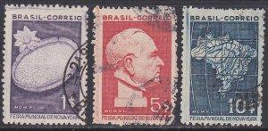 Brazil Sc #496-498 Used