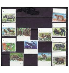 Cook Islands - Endangered Animal 12 Stamp Set 1095-1106