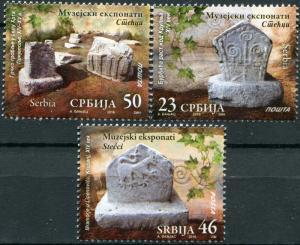 Serbia. 2016. Tombstones (MNH OG) Set of 3 stamps