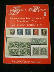 STANLEY GIBBONS AUCTION CATALOGUE 1978 GEMS FROM STOCK OF 'CHAS NISSEN & CO'