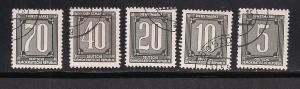 GERMANY - DDR SC# O28-32 VF U 1956
