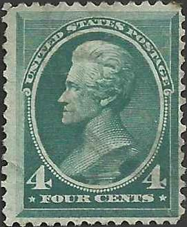 # 211 Blue Green Used Andrew Jackson