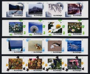 Slovenia 1065a-93a MNH Winter scenes, Tree, Turtle, Flowers, Crab, Fox, Mushroom