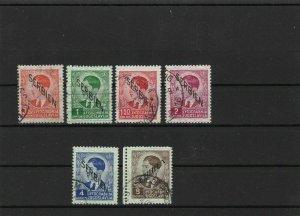 german occupation serbia 1941 used stamps ref 6898