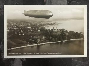 1931 Munster Germany Graf Zeppelin RPPC postcard Cover to Lorch LZ 127 # C35