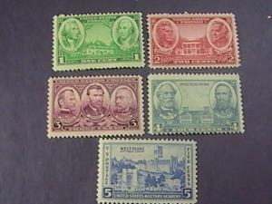 U.S.# 790-794-MINT NEVER/HINGED--COMPLETE SET--NAVY ISSUES--1936-37