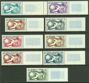 EDW1949SELL : FRENCH COLONIES 9 Values Complete set of 1958 Human Rights VF MNH