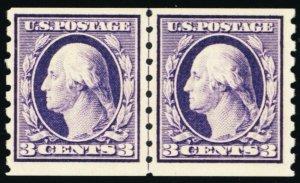 394, Mint NH VF+ Line Pair Pristine GEM! CV $925 - Stuart Katz