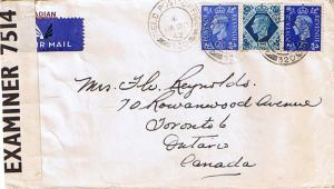 Canada Great Britain 2 1/2d (2) and 10d KGVI 1942 Field Post Office, 320 SC 3...