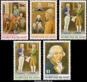 Norfolk Islands Scott 392-396 Mint never hinged.