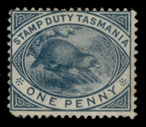 AUSTRALIA - Tasmania QV SG F26, 1d slate, UNUSED. Cat £48.