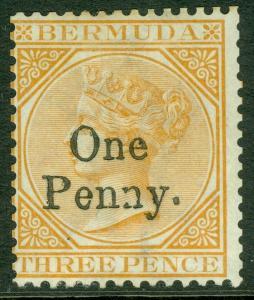 EDW1949SELL: Bermuda 1875 Scott # 14 Sehr Fein, Postfrisch Original Gum. Katalog