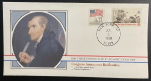 US #1476-1479 On 4 Covers - Bicentennial Constitution 1787-1987 [BIC59.80.83.85]
