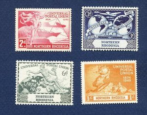NORTHERN RHODESIA - 50-53 - VF very light hinged - UPU - 1949