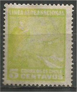 CHILE, 1931  used 5c ,Andes Scott C22