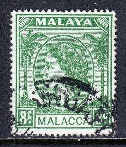 Malaya (Malacca) - Scott #34 - Used - CTO, crease UR corner - SCV $3.00