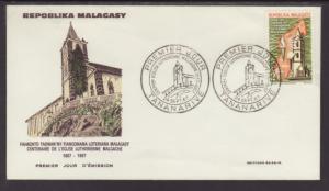 Madagascar 403 Lutheran 1967 U/A FDC