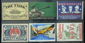 Match Box Labels ! military army solider tank gun novj sailor GN12