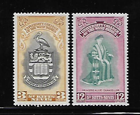 ST. KITTS-NEVIS, 105-106, MNH, PRINCESS ALICE CHANCELLOR