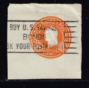 US STAMP BOB #U529 6C 1932 ENVELOPE CUT SQ USED