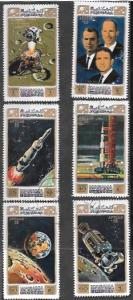 Manama 1971 Set of 6  Space.  Apollo 15. Moon. Worden, Scott, Irwin