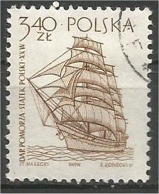 POLAND, 1964, used 3.40z, Ancient Ships Scott 1213