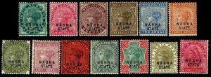 1885-1900 India Nabha State #11-12 & 25-26 - Unused - VF - CV$99.95 (ESP#4475)