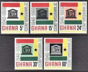 Ghana Scott 264-68 F to VF mint OG H.