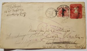 630 and U522 on cover with RTS and 'gone' marking