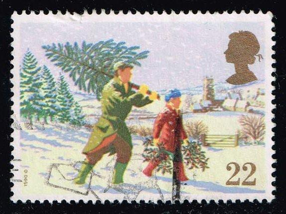 Great Britain #1341 Carrying Christmas Tree; used (0.30)