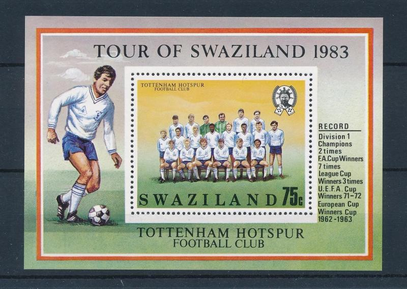 [46540] Swaziland 1983 Sports Soccer Football Tottenham Hotspur MNH Sheet