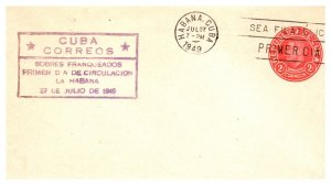 Cuba, Worldwide First Day Cover, Postal Stationary