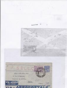 Brazil 1931 to paris airmail stamps cover Ref 9612