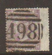Great Britain #45 w/498 cancel Used