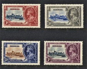 STAMP STATION PERTH  Bermuda #100-103 Silver Jubilee Set- MNH CV$35.00