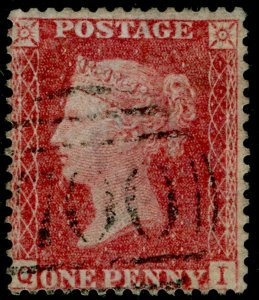 SG38, 1d pale red PLATE 36, LC14, FINE USED. Cat £35. QI