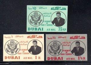 DUBAI C25-C27 Imperf MH cv $9.50 Kennedy
