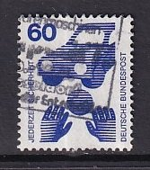 Germany  #1081  used  1971  accident prevention  60pf