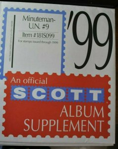 Scott U.N.1999 #9 Minuteman supplement, new unused