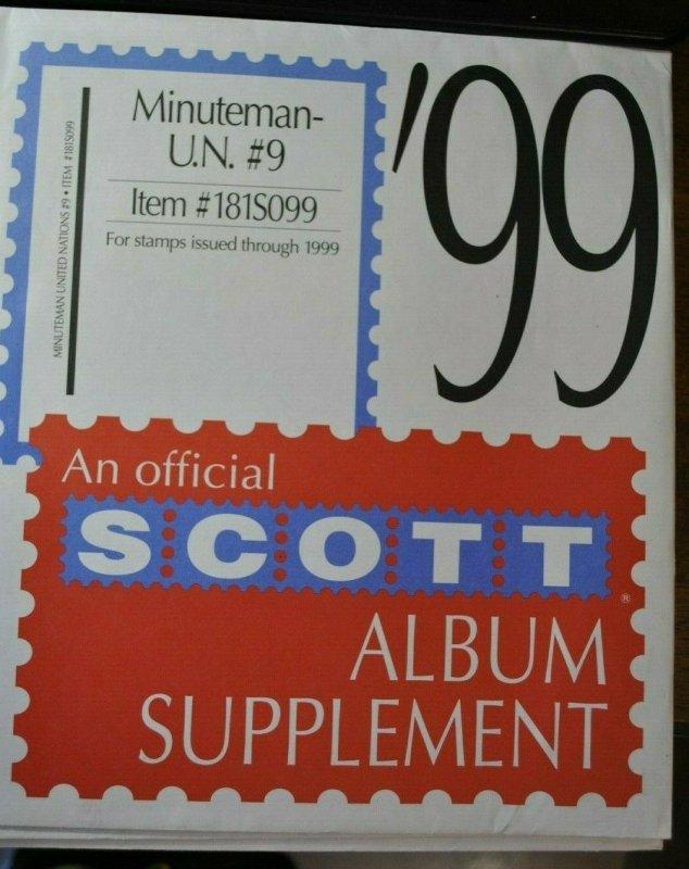Scott U.N.1999 #9 Minuteman supplement, new unused