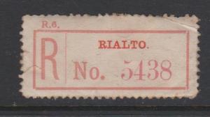 Ireland Rialto Registration Label