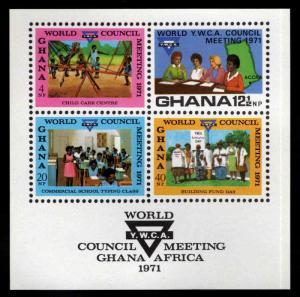 GHANA  YMCA souvenir sheet, Scott 429a MNH**
