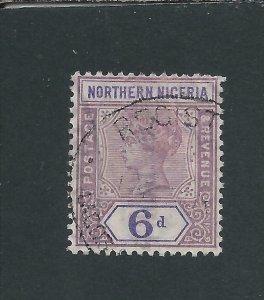 NORTHERN NIGERIA 1900 6d DULL MAUVE & VIOLET FU SG 6 CAT £50