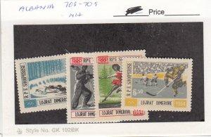 J26056  jlstamps 1963 albania set mnh #706-9 sports , all checked