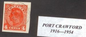 CANADA  BRITISH COLUMBIA CANCEL   PORT CRAWFORD