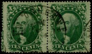 #35 USED PAIR WITH IMPRINT AT LEFT POS.41L2-42L2 BQ2235