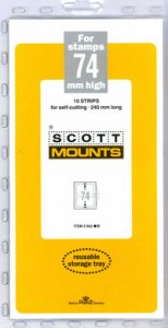 Scott Mount 74 x 240 mm  (Scott 942 Clear)
